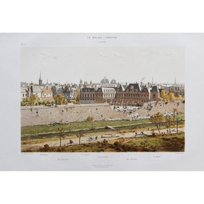Old Engraving Of The Royal Palace - Cardinal