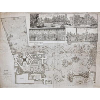 Antique Plan Of Monceau Garden