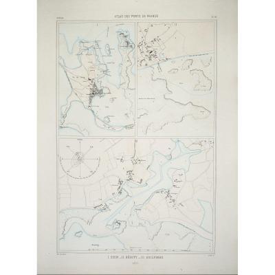 Nautical Chart Of The Ile De Sein - Guilvinec - Kerity