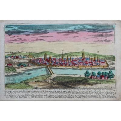 Gravure Ancienne De La Ville D'auxerre