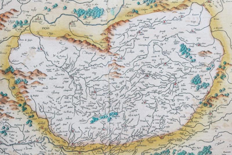 Carte Géographique Ancienne De La Bourgogne-photo-4
