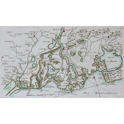 Carte marine ancienne de la Camargue