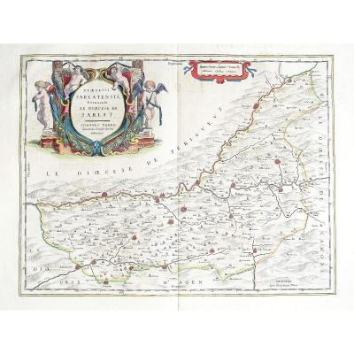 Carte Géographique Ancienne De Sarlat
