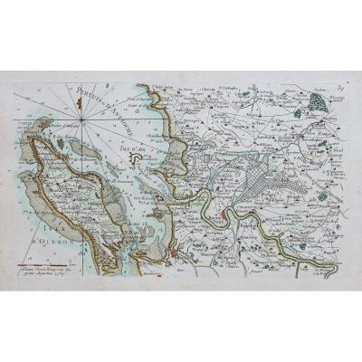 Carte Marine Ancienne Des Iles D'aix Et Oléron
