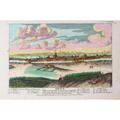 Gravure ancienne de Metz