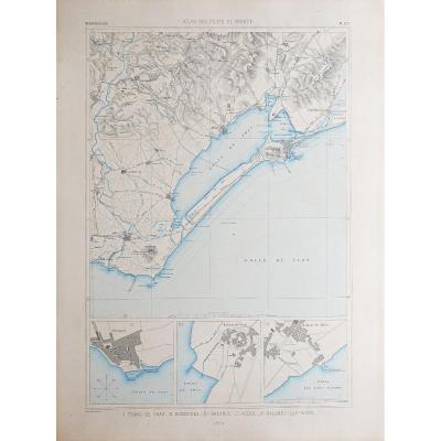 Carte marine ancienne de l'Etang de Thau