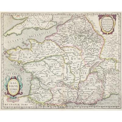 Carte Géographique Ancienne De La France – Galliae