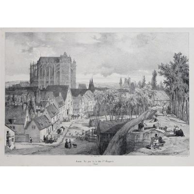 Gravure ancienne de Beauvais