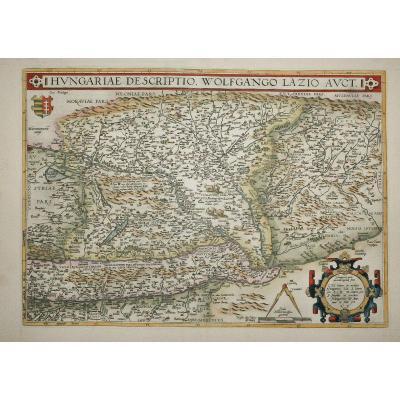 Carte Géographique Ancienne De Hongrie - Hungariae