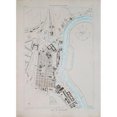 Carte marine ancienne du port de Rochefort