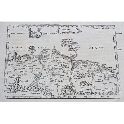 Carte Géographique Ancienne De l'Afrique Du Nord