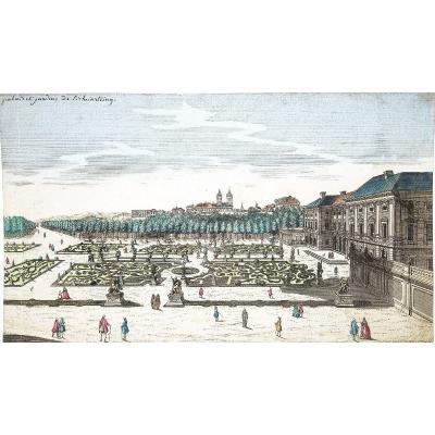 Gravure ancienne  du Palais du Liechtenstein