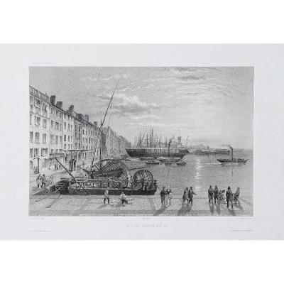 Lithographie Ancienne De Toulon