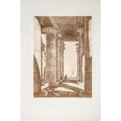 Gravure Ancienne d'Egypte - Thebes