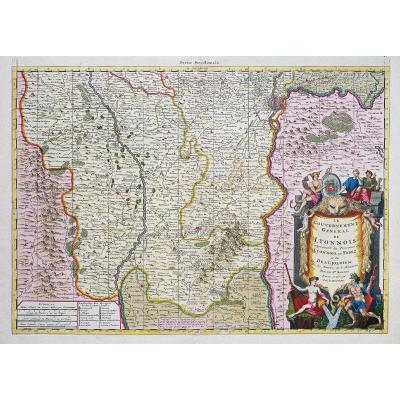 Carte Géographique Ancienne Du Lyonnais Et Forez