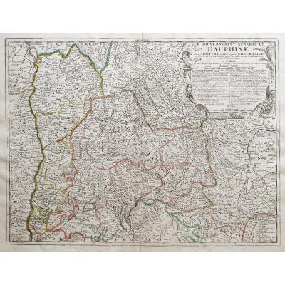 Carte Géographique Ancienne Du Dauphiné