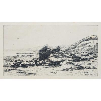 Gravure Ancienne d'Erquy - Bretagne