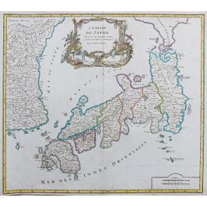 Carte Géographique Ancienne Du Japon & Corée