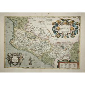 Carte Géographique Ancienne Du Mexique - Ortelius Cartographe