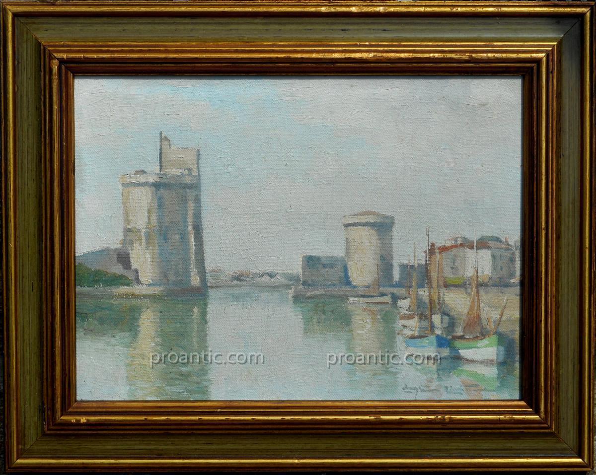 Christian Couillaud (1904/1964) La Rochelle - The Port