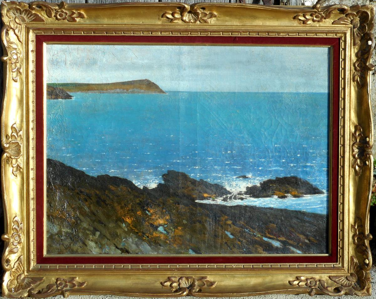 August HAGBORG (1852/1921) côte normande - peintre suèdois