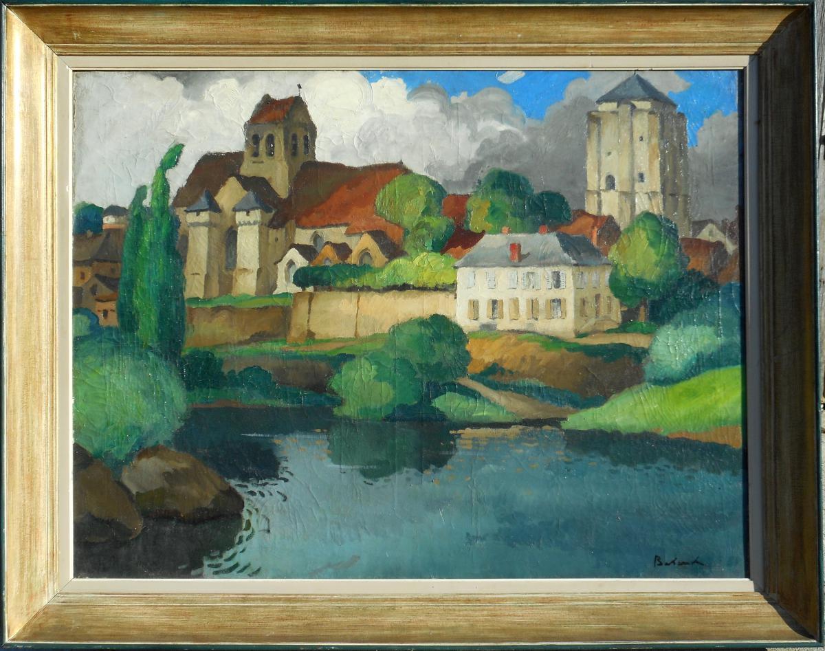 Gaston Balande (1880/1971) La Roche-posay- 88x116cm Poitiers