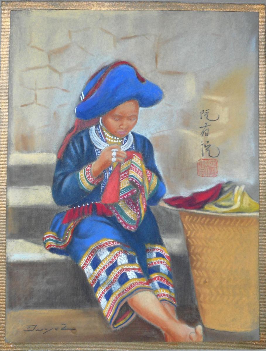 NGUYEN HUU DUYET - 17 pastels + 1 aquarelle 1938 -ASIE