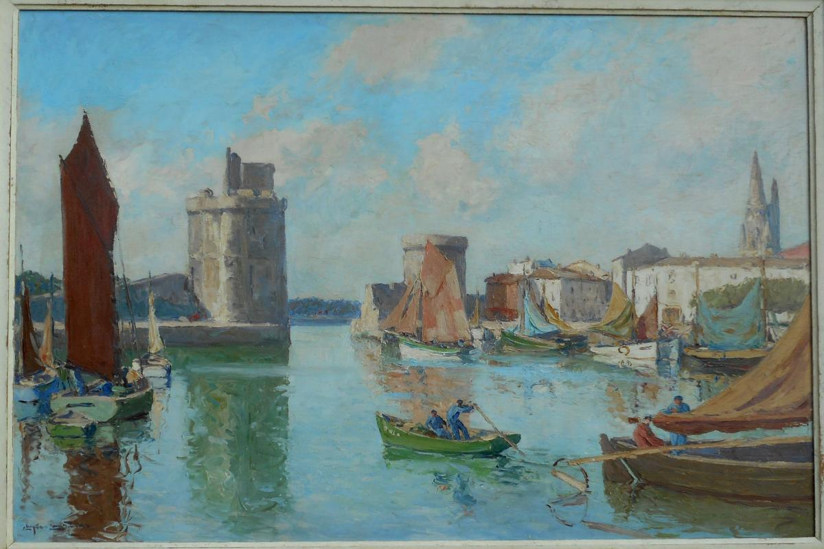 Christian Couillaud (1904/1964) La Rochelle Hsp 68x100cm