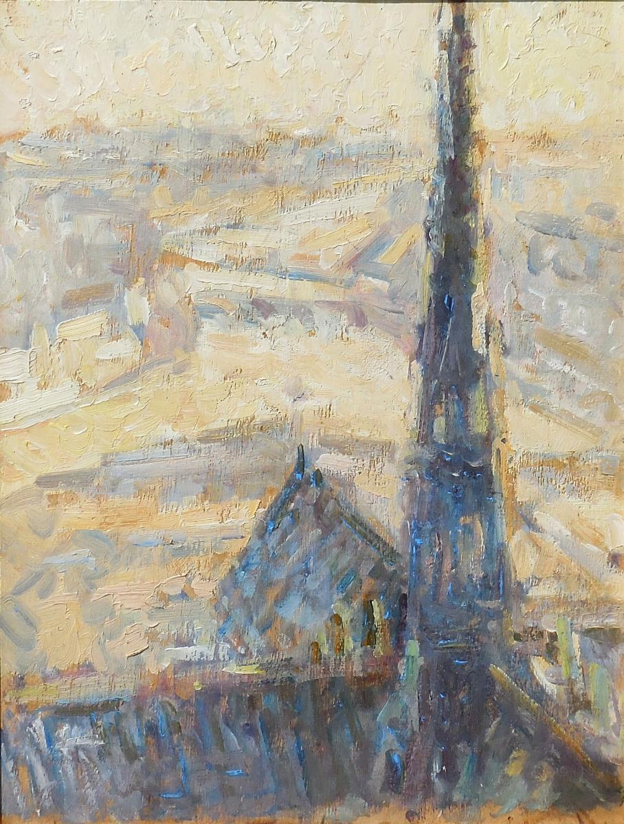 The Arrow Of Notre-dame Cathedral Of Paris Bytarkhoff
