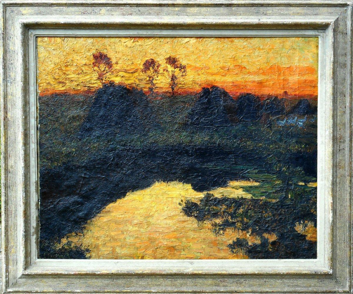 Carl Hessmert (1869/1928) German Impressionist - Guardian Of Geese - Germany