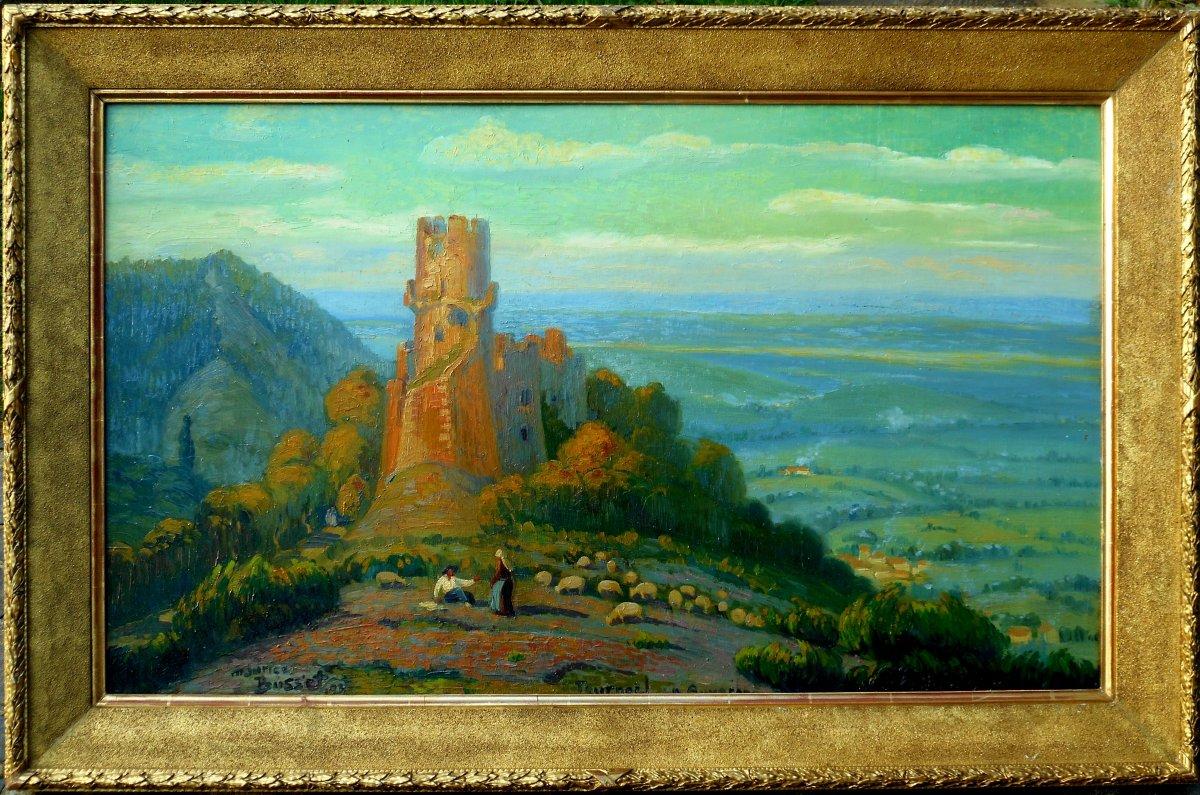 Maurice Busset (1881-1936) Tournoel In Auvergne 1935 - Volvic - Hsp 61x101cm