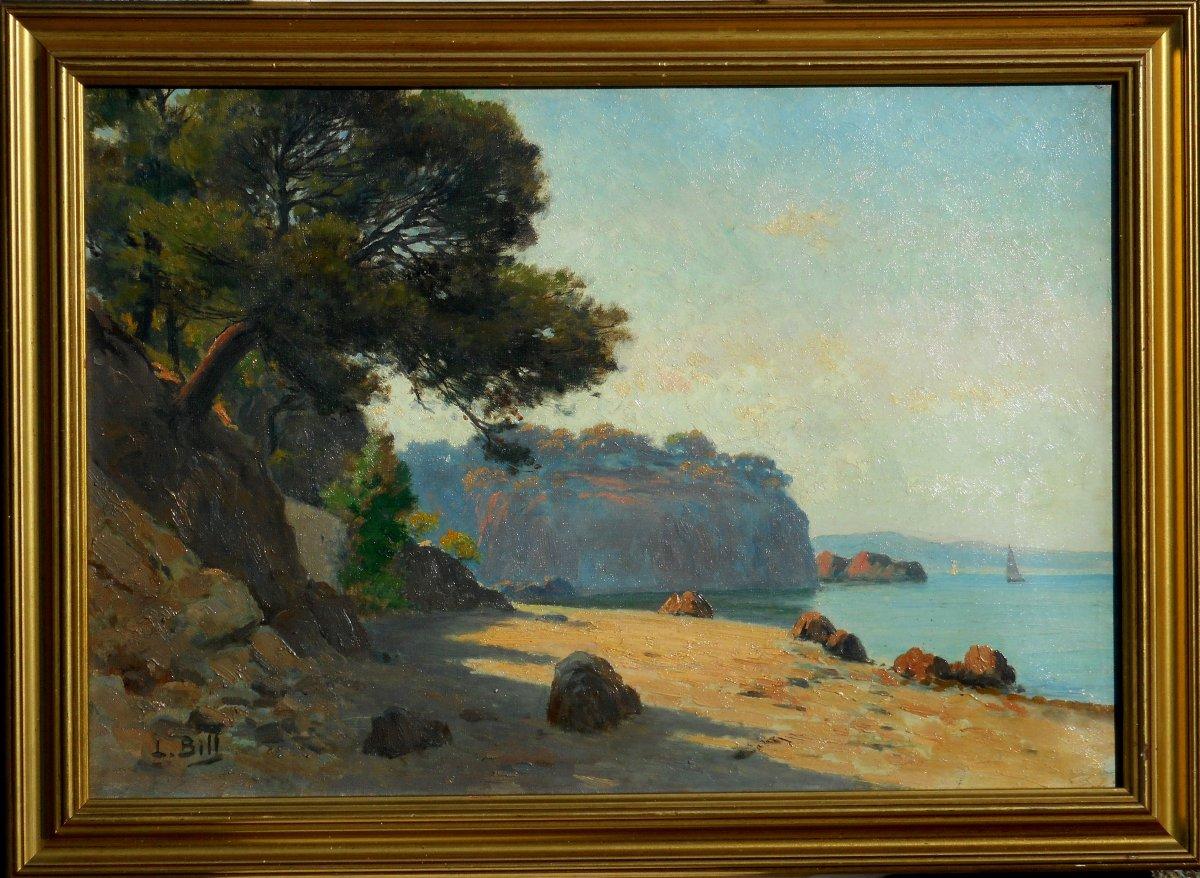 Lina Bill (1855 Gruissan-1936 Avignon) Toulon Le Cap Brun Hst 38x55cm
