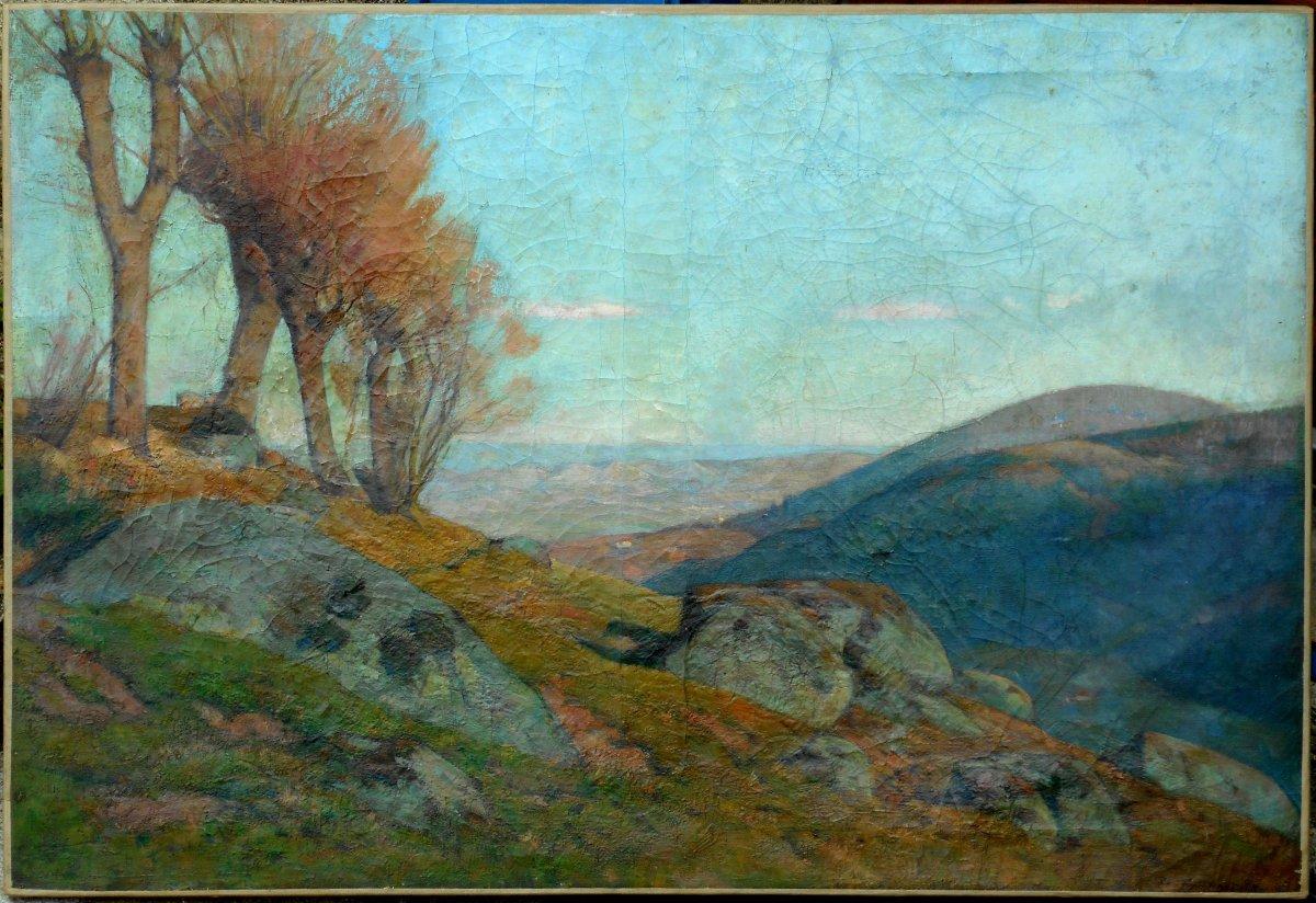 Theophile Tailhandier (1874-1939) Royat Valley - Auvergne - Puy De DÔme - Hst 55x81cm