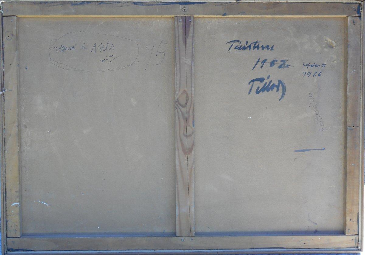 ABSTRACTION  LYRIQUE 1962 -signature non lue -HSP 53x76cm --photo-3