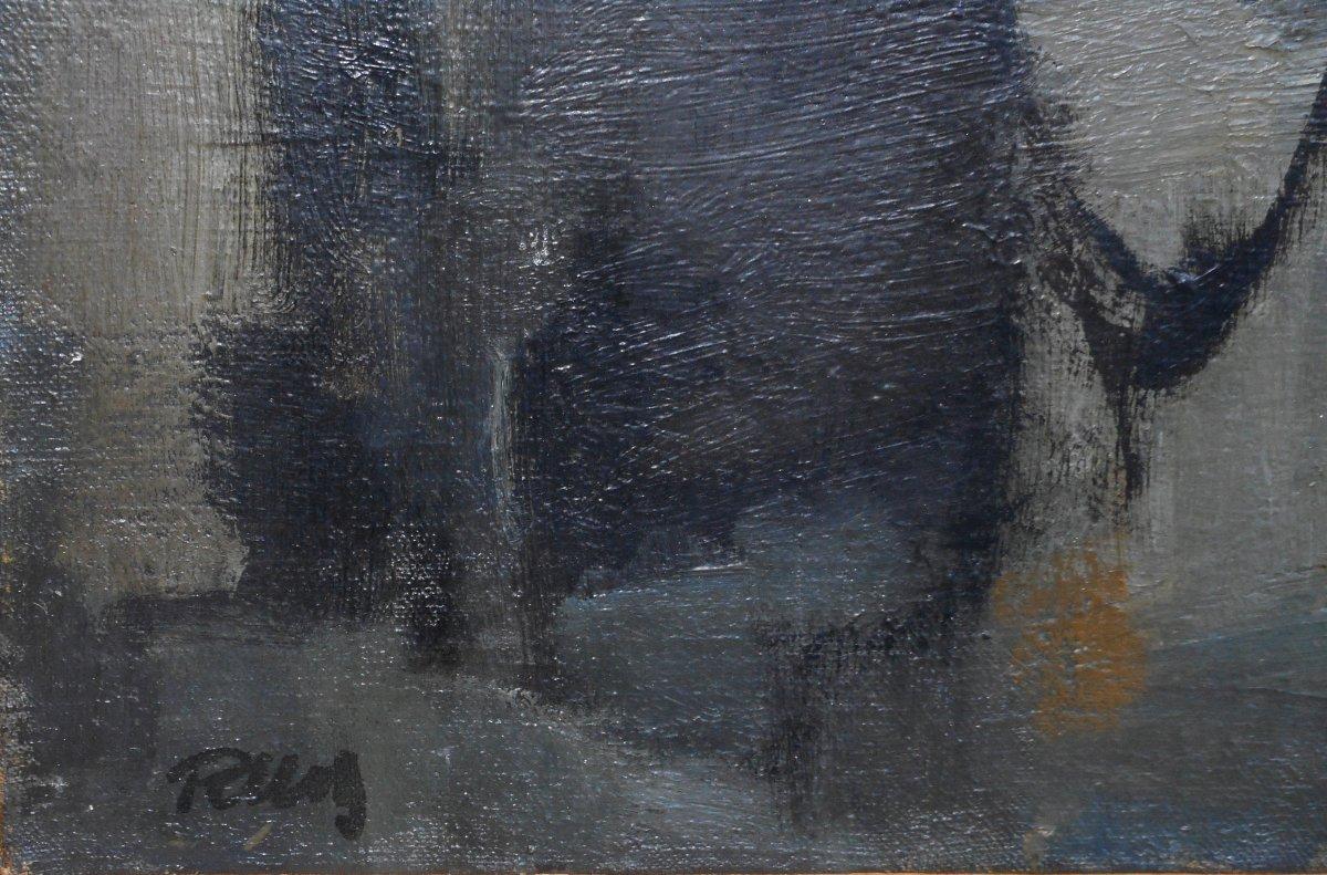 ABSTRACTION  LYRIQUE 1962 -signature non lue -HSP 53x76cm --photo-4