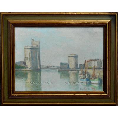 Christian  Couillaud (1904/1964) La Rochelle - Le Port