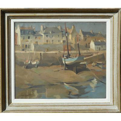LUC LEPETIT(1904/1981)port HALIGUEN QUIBERON BRETAGNE