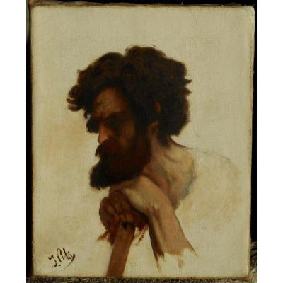 ISIDORE PILS (1813/1875) etude de tête de kabyle
