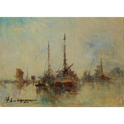 Jean-Etienne KARNEC (1865/1934) PAIRE de TABLEAUX
