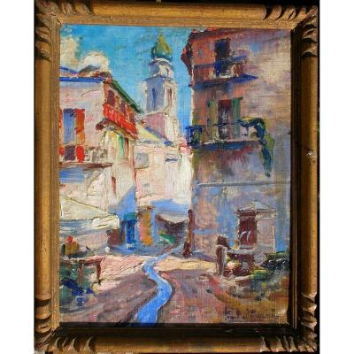 PAUL LEVERE (1875/1949) SAINT-MARTIN-VESUBIE  en PROVENCE