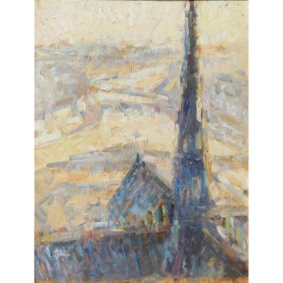 La flèche de la cathédrale NOTRE DAME de PARIS parTARKHOFF