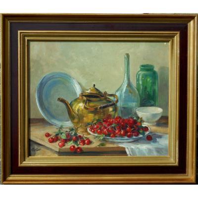 Emile PRODHON (1881 / 1974)  peintre de la vallée de la MARNE - LAGNY