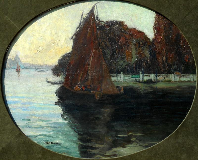 Louis Abel-truchet (1857/1918) Venice - French Gardens-photo-2