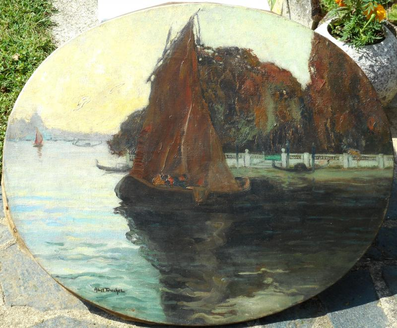 Louis Abel-truchet (1857/1918) Venice - French Gardens-photo-3