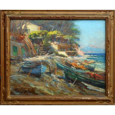 PAUL LEVERE ou Lévéré (1875/1949) côte méditerranéenne vers TOULON