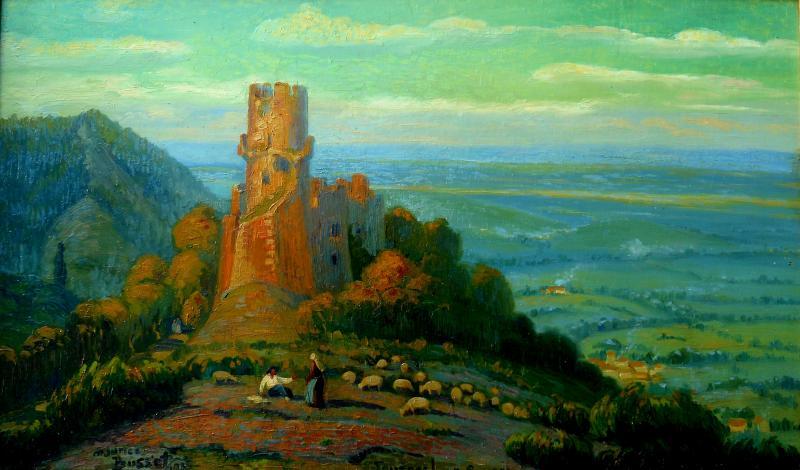 Maurice Busset (1881-1936) Tournoel In Auvergne 1935 - Volvic - Hsp 61x101cm-photo-2