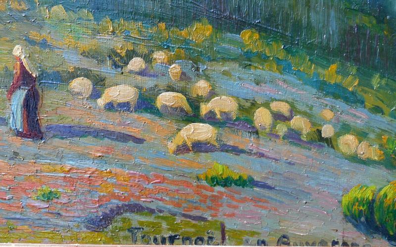 Maurice Busset (1881-1936) Tournoel In Auvergne 1935 - Volvic - Hsp 61x101cm-photo-3