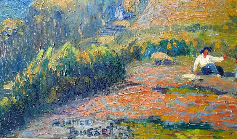Maurice Busset (1881-1936) Tournoel In Auvergne 1935 - Volvic - Hsp 61x101cm-photo-4
