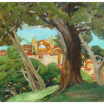 Adolphe COSSARD (1880-1952) AJACCIO depuis la route du SALARIO - CORSE