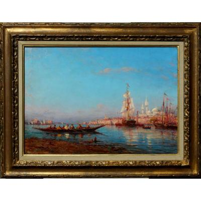 Henry MALFROY (1895-1944) ISTANBUL - BOSPHORE - TURQUIE- HST 46x65cm